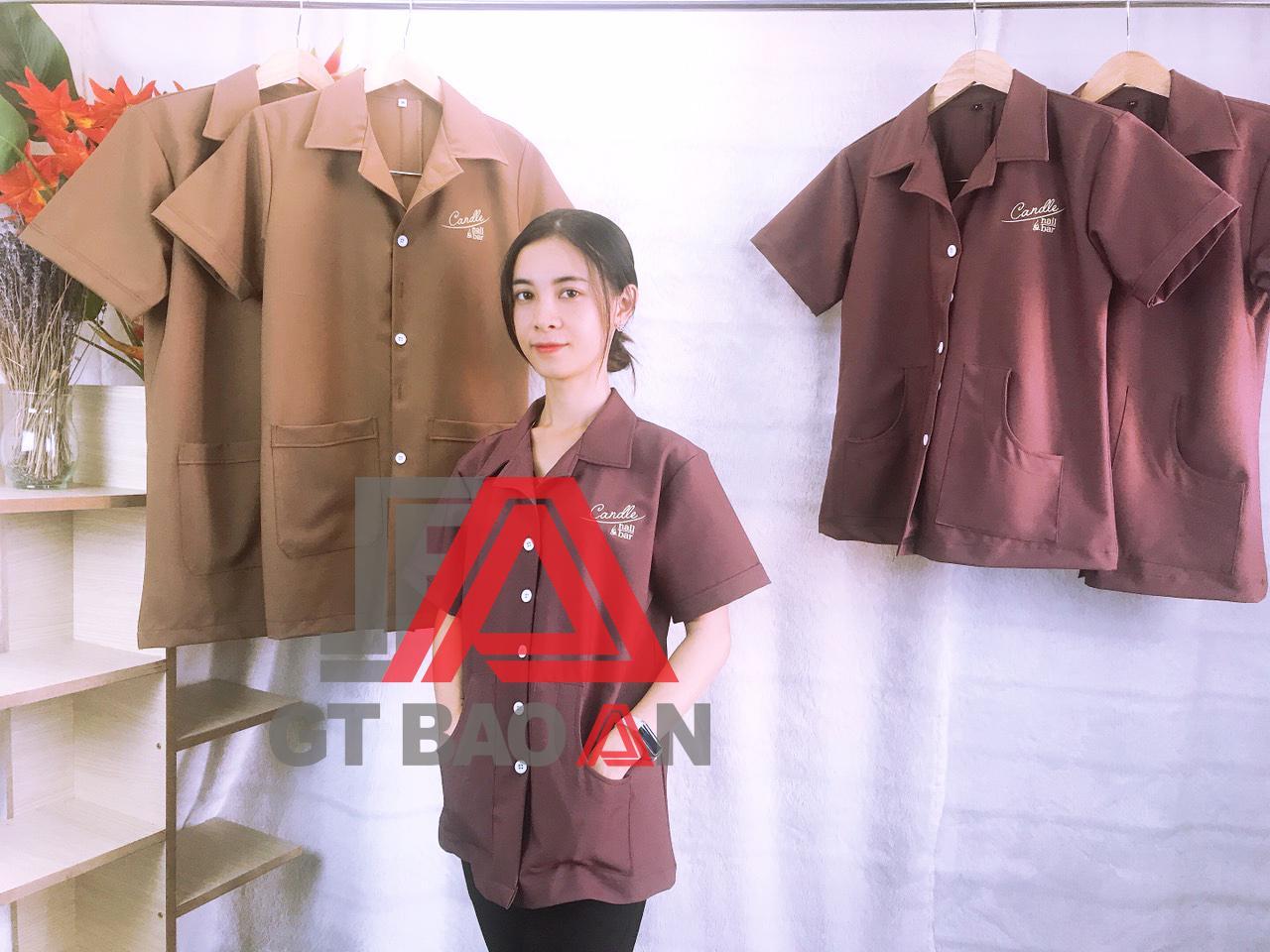 Áo blouse nhân viên làm nail