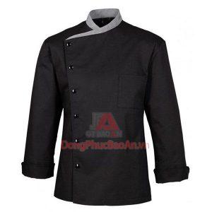 Áo đồng phục bếp màu đen, áo bếp đen
