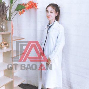 Áo bác sĩ tay dài hàng có sẵn