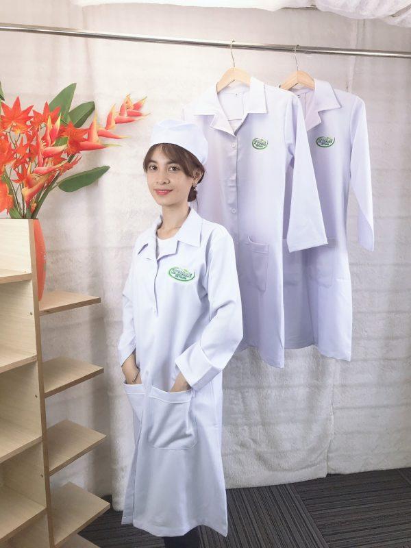May áo blouse trắng tay dài TP.HCM