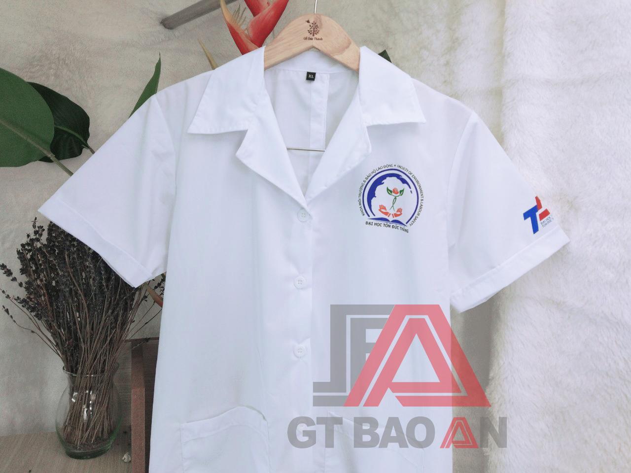 Áo blouse trường đại học Tôn Đức Thắng