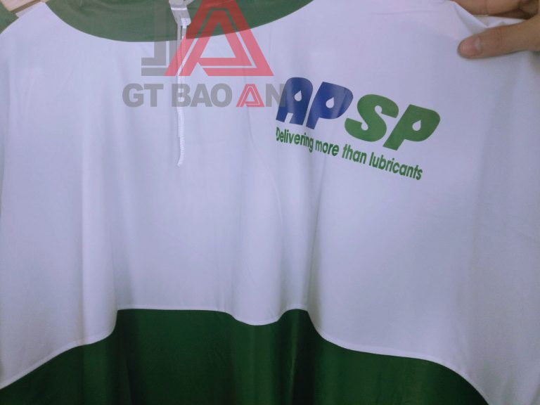 Áo mưa quà tặng công ty dầu nhớt Saigon Petro