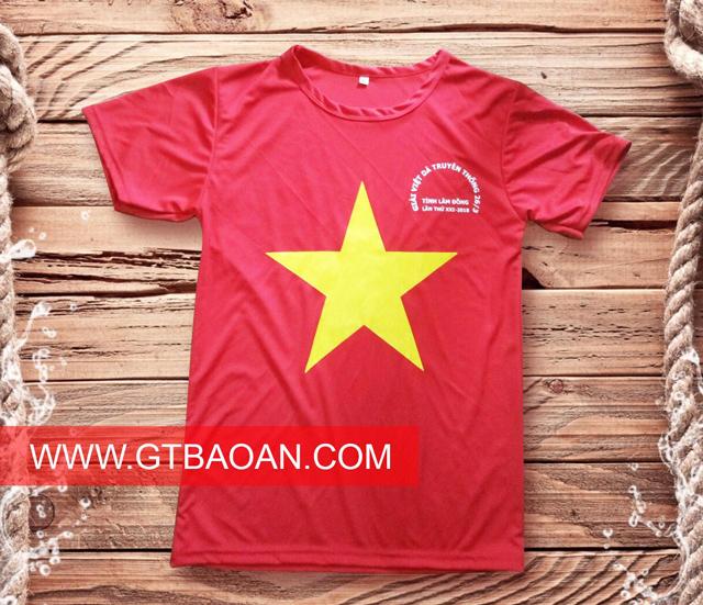 Áo thun đồng phục cờ đỏ sao vàng