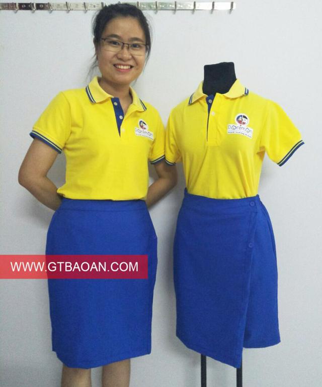 Một mẫu áo thun và chân váy cô giáo