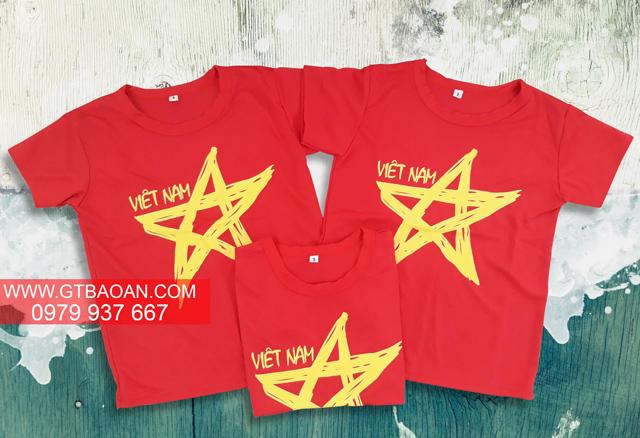 Thiết kế áo thun cờ đỏ sao vàng trẻ trung, năng động