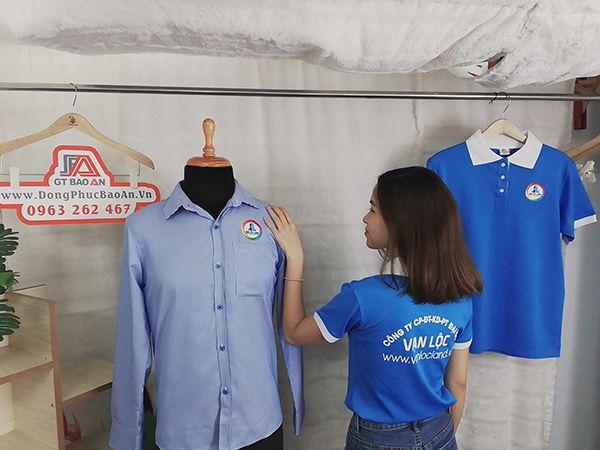 May áo thun cổ trụ đồng phục công ty Vạn Lộc Land