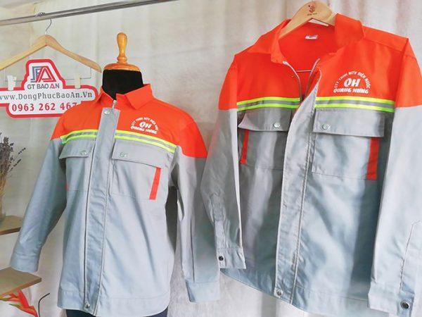 Áo bảo hộ lao động phản quang cao cấp công ty Quang Hưng
