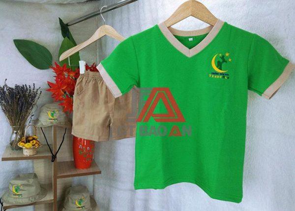 Mẫu quần áo mẫu giáo trường mầm non Trăng Non