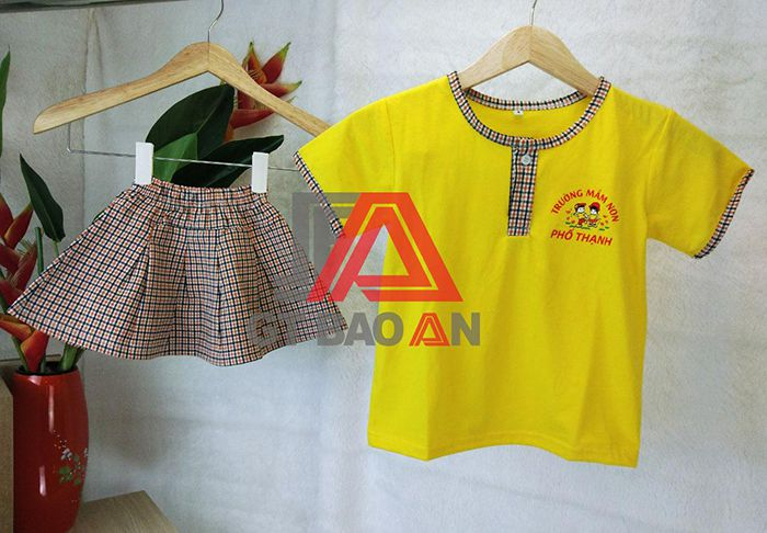 Mẫu áo đồng phục mầm non trường Phổ Thạnh