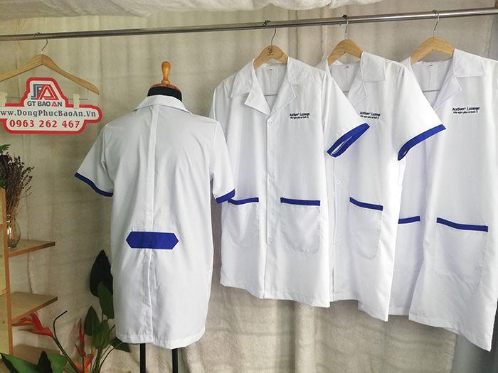 Mẫu áo Blouse phòng thí nghiệm ngắn tay nam nữ giá tốt