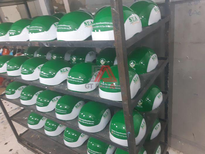 Xưởng làm nón bảo hiểm quà tặng công ty