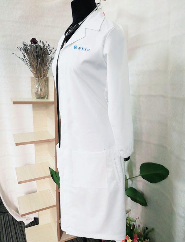 Kiểu áo blouse nữ điều dưỡng tay dài điệu đà, xinh lung linh 06