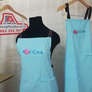 Mẫu tạp dề tiệm trà sữa đẹp tại Bình Thuận - AOKICHA 04