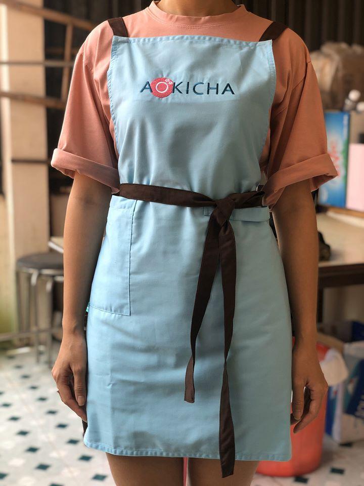 tạp dề trà sữa aokicha