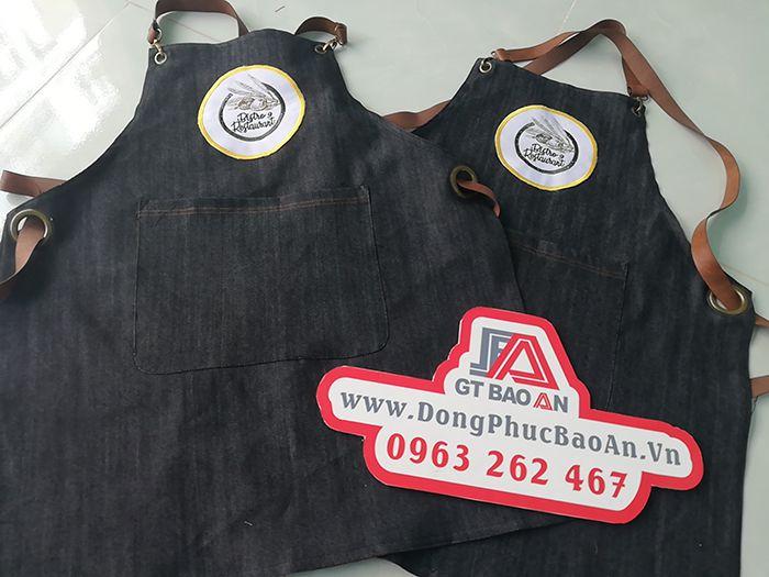 Mẫu Tạp Dề Vải Jean Đồng Phục Nhà Hàng Quán