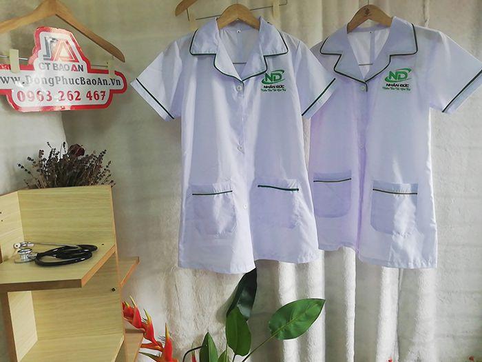 May Áo Phụ Tá Nữ Điều Dưỡng - In Thêu Logo Theo Yêu Cầu 04