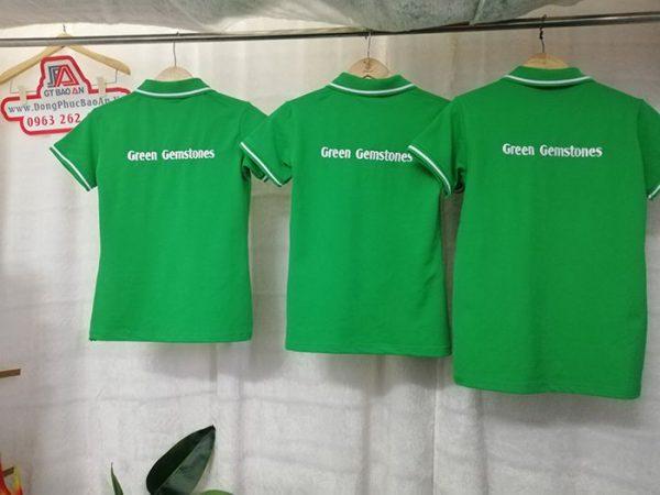 May Áo Thun Đồng Phục Công Ty Đá Quý Green Gemstones 01