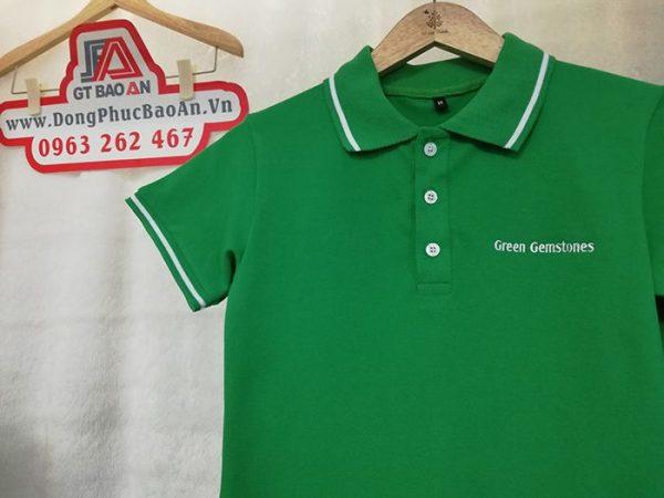 May Áo Thun Đồng Phục Công Ty Đá Quý Green Gemstones 02