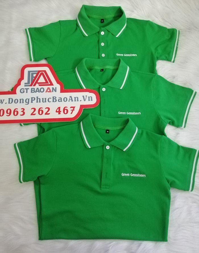 May Áo Thun Đồng Phục Công Ty Đá Quý Green Gemstones 04