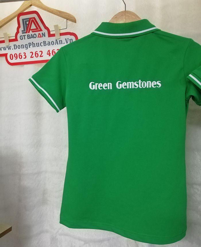 May Áo Thun Đồng Phục Công Ty Đá Quý Green Gemstones 05