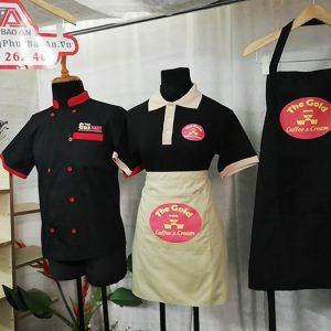 May Đồng Phục Quán Cafe, Kem The Gold - Áo Thun, Tạp Dề Cao Cấp