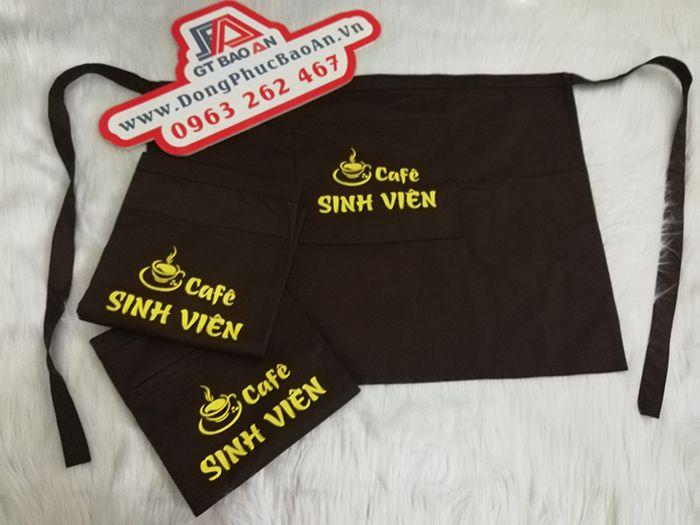 Tạp Dề Ngắn Ngang Hông Đồng Phục Quán Cafe Sinh Viên 01