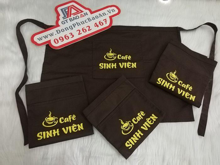 Tạp Dề Ngắn Ngang Hông Đồng Phục Quán Cafe Sinh Viên 03