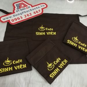 Tạp Dề Ngắn Ngang Hông Đồng Phục Quán Cafe Sinh Viên 04