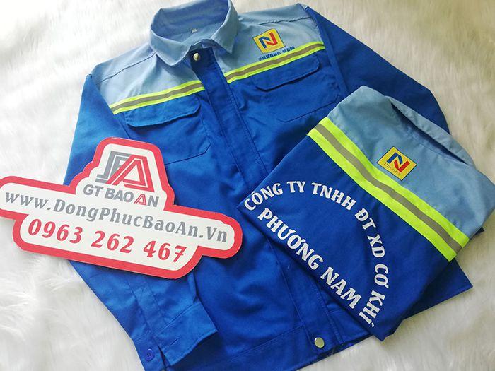 Áo bảo hộ cho công nhân cơ khí công ty Phương Nam 01