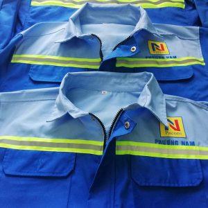 Áo bảo hộ cho công nhân cơ khí công ty Phương Nam 02