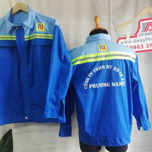 Áo bảo hộ cho công nhân cơ khí công ty Phương Nam 04