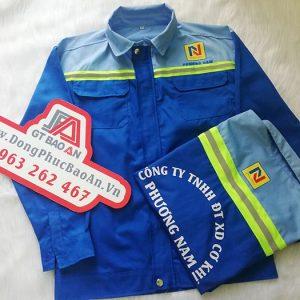 Áo bảo hộ cho công nhân cơ khí công ty Phương Nam 05