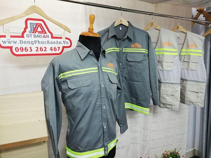 Áo bảo hộ cho kỹ sư - Áo gile phản quang công ty xây dựng SVTCONS 01