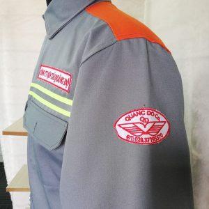 Áo Bảo Hộ Kaki Phối Màu Cam Nhập Khẩu Có Phản Quang 04