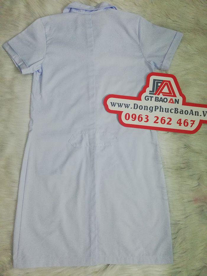 Áo blouse bác sĩ ngắn tay Ngọc Nữ Tâm Vương 01