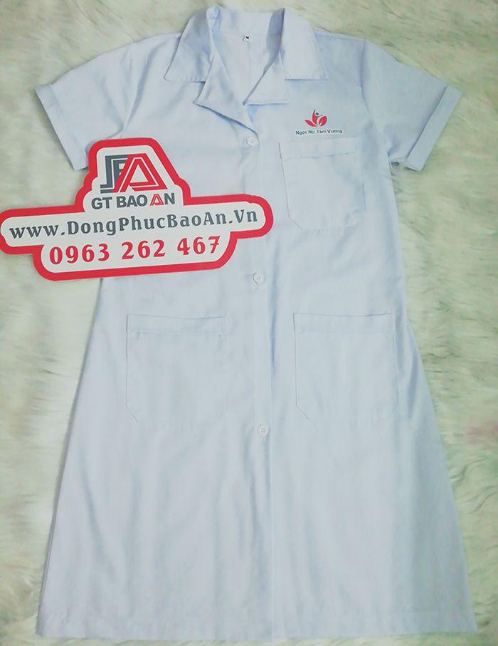 Áo blouse bác sĩ ngắn tay Ngọc Nữ Tâm Vương 03
