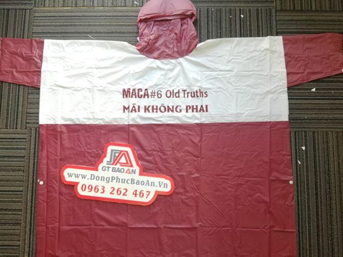 Áo mưa cao cấp – Công ty may áo mưa hàng quà tặng MACA 03