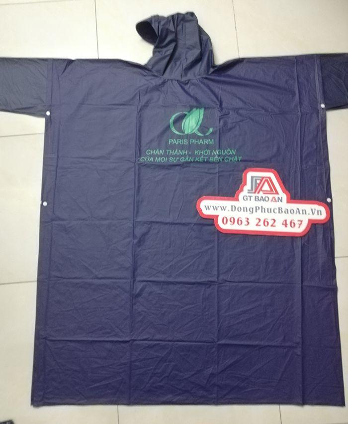 Áo mưa vải dù – áo mưa quà tặng paris pharm 01