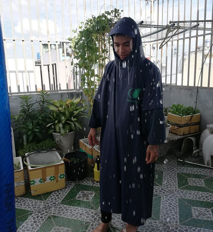 Áo mưa vải dù – áo mưa quà tặng paris pharm 02