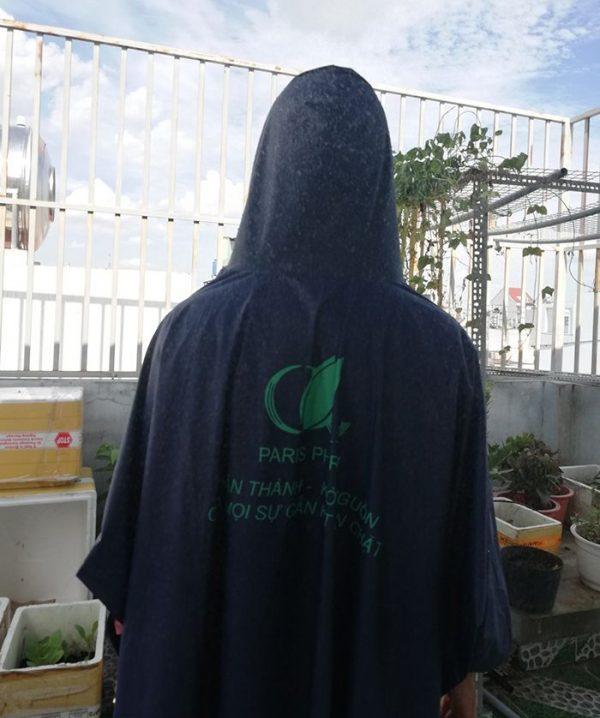 Áo mưa vải dù – áo mưa quà tặng paris pharm 04