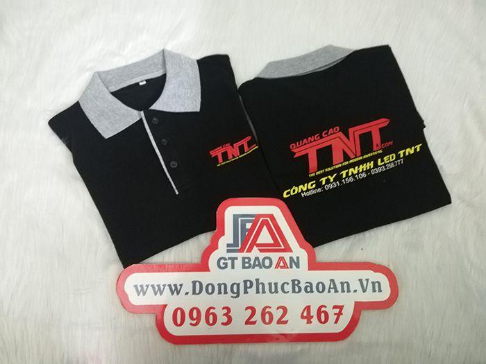 Làm áo thun đồng phục công ty quảng cáo Led TNT 02