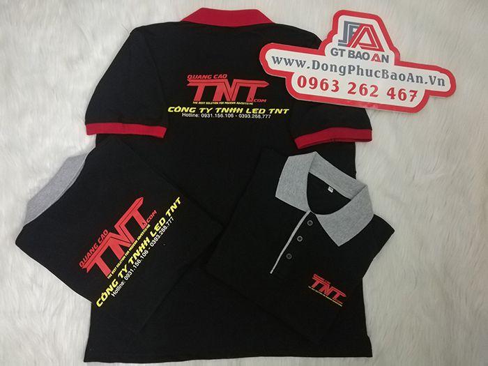 Làm áo thun đồng phục công ty quảng cáo Led TNT 04