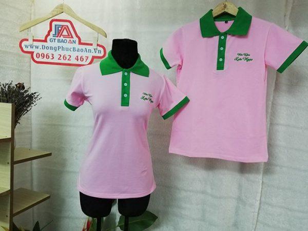 Mẫu áo thun cá sấu đồng phục Nha Khoa Lưu Ngọc 02