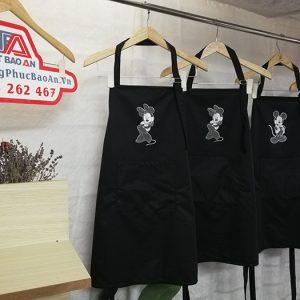 Mẫu tạp dề dù chống thấm cho pha chế quán cafe - nhà hàng 03