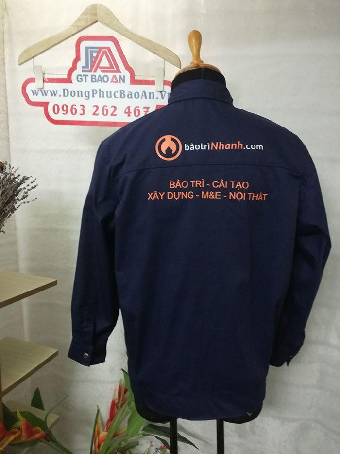 May áo bảo hộ công nhân xây dựng và nội thất cao cấp 02