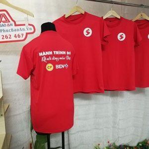May Đồng Phục Áo Thun Công Ty Giá Rẻ - Hành Trình Đỏ BIDV 02