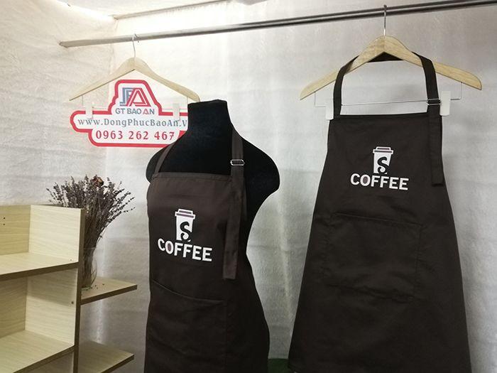 Tạp dề phục vụ quán cafe - Đồng phục tạp dề quán 01