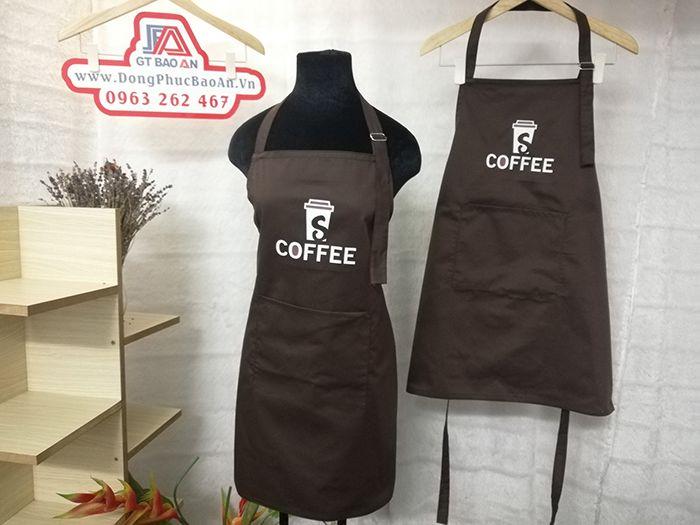 Tạp dề phục vụ quán cafe - Đồng phục tạp dề quán 02