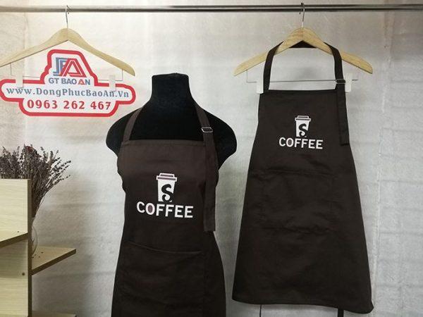 Tạp dề phục vụ quán cafe - Đồng phục tạp dề quán 03