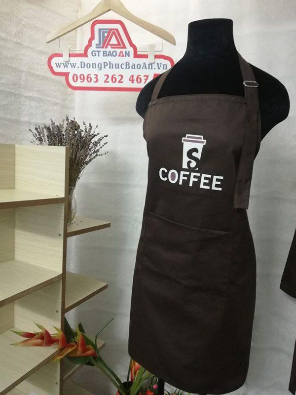 Tạp dề phục vụ quán cafe - Đồng phục tạp dề quán 04